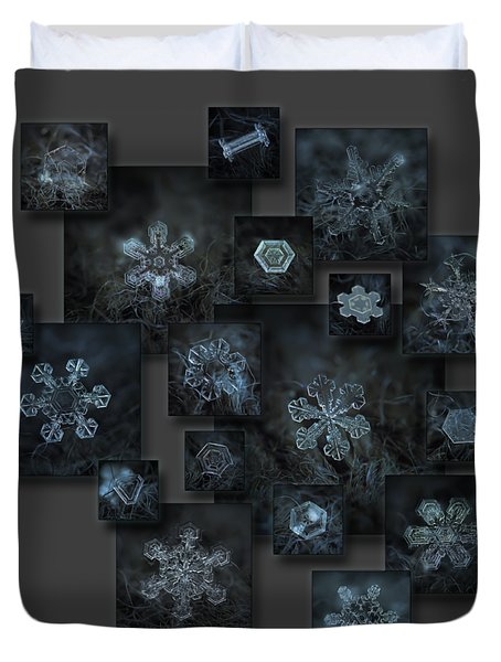 Snowflake Collage - Dark Crystals 2012-2014 Duvet Cover