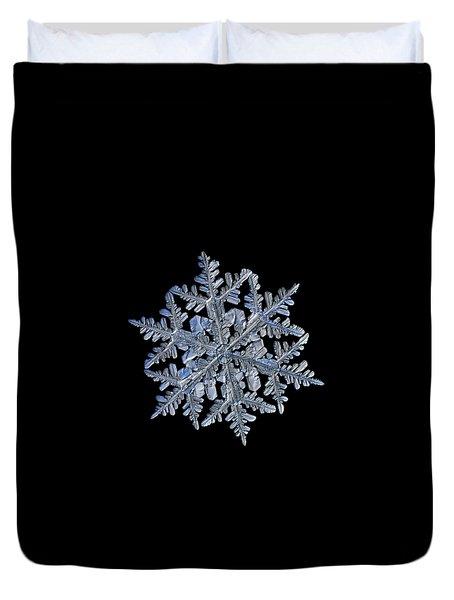 Snowflake Macro Photo - 13 February 2017 - 3 Black Duvet Cover