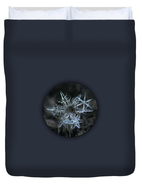 Duvet Cover featuring the photograph Snowflake Of 19 March 2013 by Alexey Kljatov