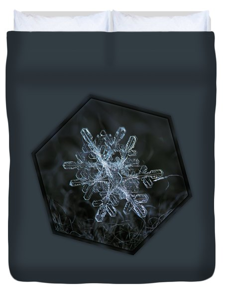 Duvet Cover featuring the photograph Snowflake Of January 18 2013 by Alexey Kljatov