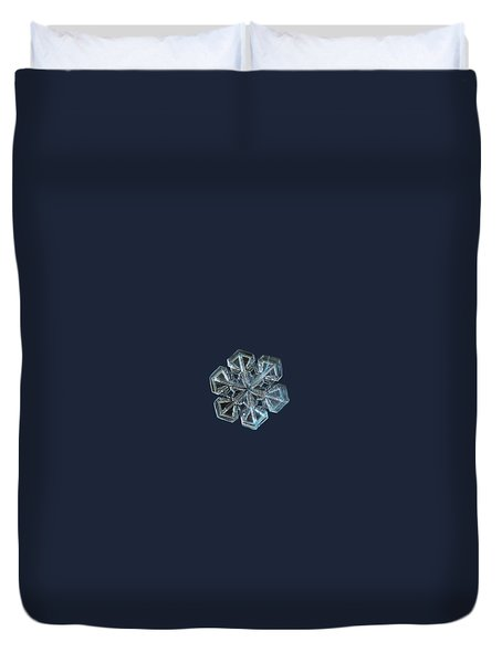 Duvet Cover featuring the photograph Snowflake Photo - Alcor by Alexey Kljatov