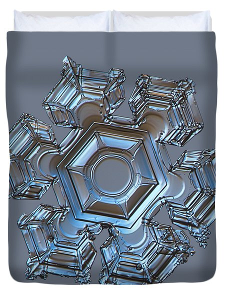 Snowflake Photo - Cold Metal Duvet Cover