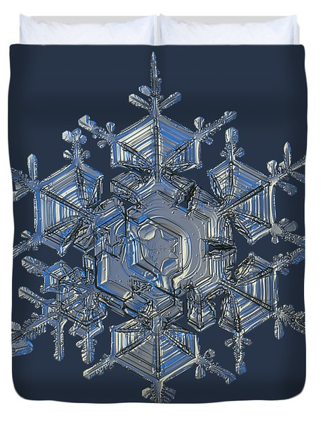 Snowflake Photo - Crystal Of Chaos And Order Duvet Cover