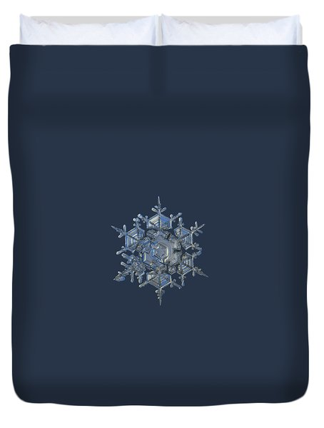 Duvet Cover featuring the photograph Snowflake Photo - Crystal Of Chaos And Order by Alexey Kljatov