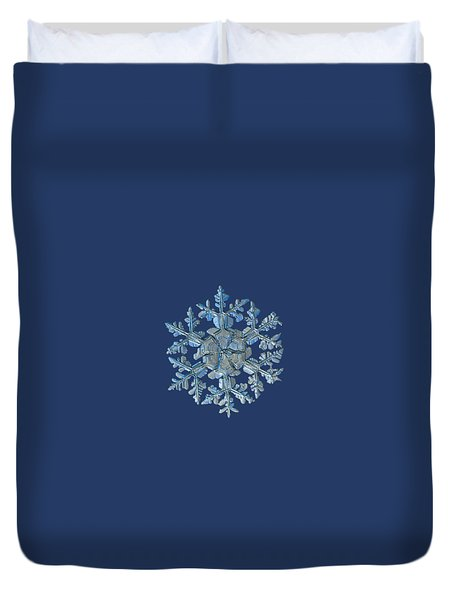 Duvet Cover featuring the photograph Snowflake Photo - Gardener's Dream by Alexey Kljatov