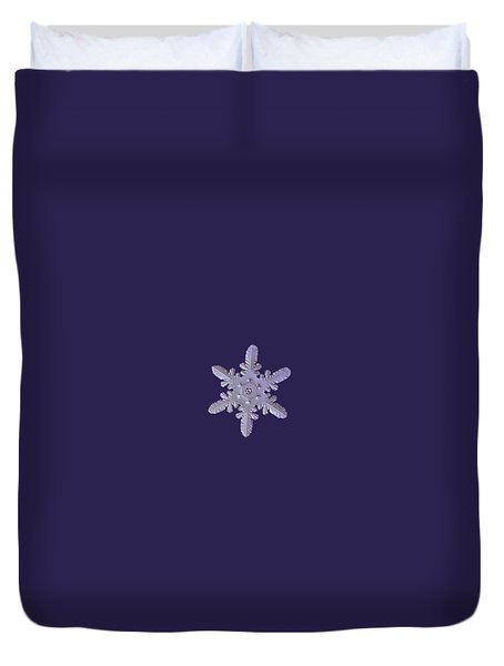 Snowflake Photo - Heart-powered Star Duvet Cover