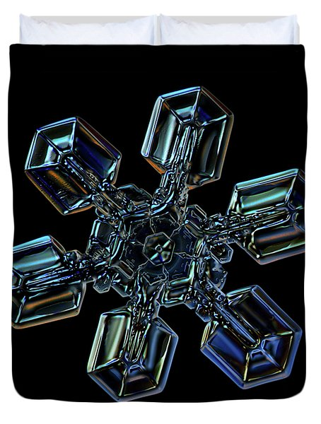 Snowflake Photo - High Voltage IIi Duvet Cover