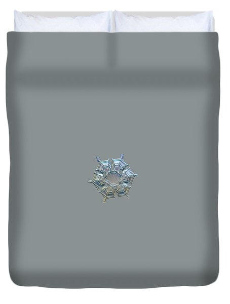 Duvet Cover featuring the photograph Snowflake Photo - Ice Relief by Alexey Kljatov