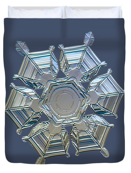 Snowflake Photo - Ice Relief Duvet Cover