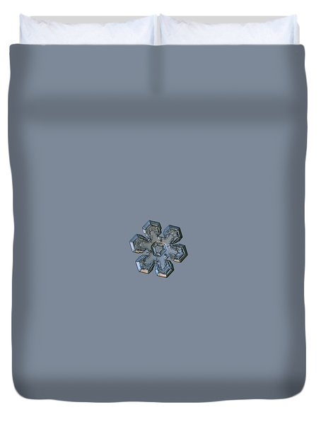 Duvet Cover featuring the photograph Snowflake Photo - Massive Silver by Alexey Kljatov