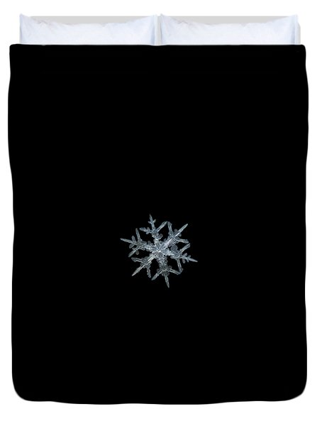 Duvet Cover featuring the photograph Snowflake Photo - Rigel by Alexey Kljatov