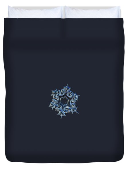 Duvet Cover featuring the photograph Snowflake Photo - Spark by Alexey Kljatov