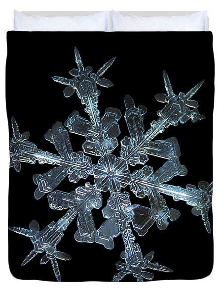 Snowflake Photo - Starlight Duvet Cover