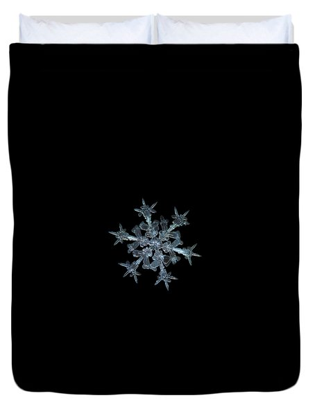 Duvet Cover featuring the photograph Snowflake Photo - Starlight by Alexey Kljatov