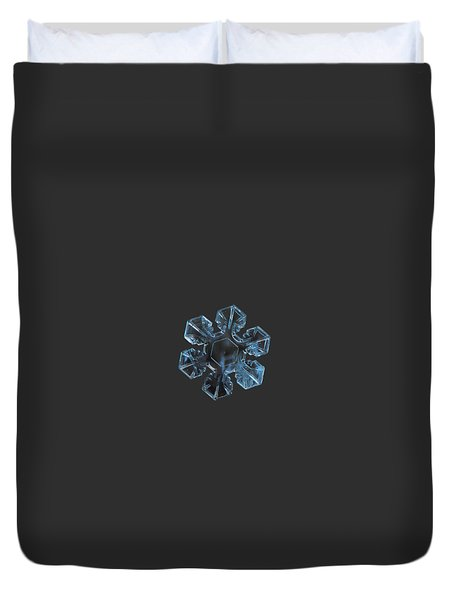 Duvet Cover featuring the photograph Snowflake Photo - The Core by Alexey Kljatov