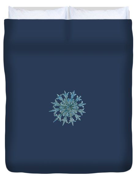 Snowflake Photo - Twelve Months Duvet Cover