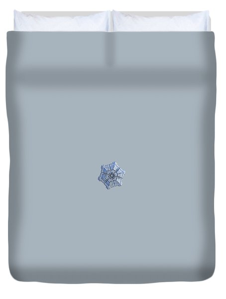 Duvet Cover featuring the photograph Snowflake Photo - Winter Fortress by Alexey Kljatov