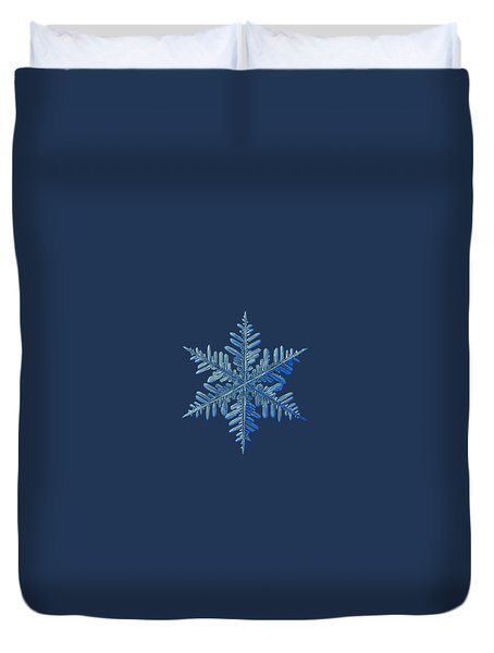 Duvet Cover featuring the photograph Snowflake Photo - Winter Is Coming by Alexey Kljatov