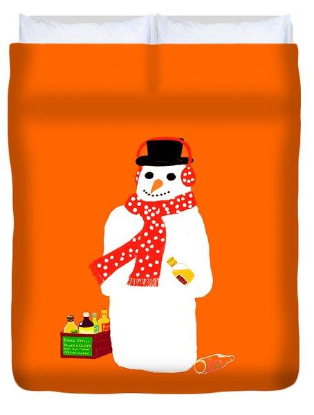 Snowman Duvet Cover by Barbara Moignard