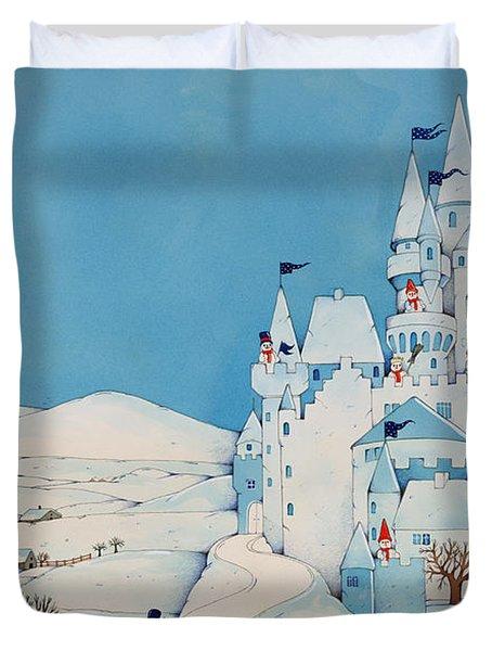Snowman Castle Duvet Cover by Christian Kaempf