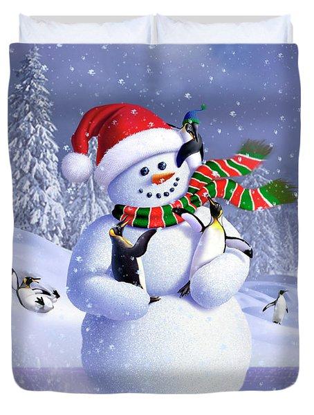 Snowman Duvet Cover
