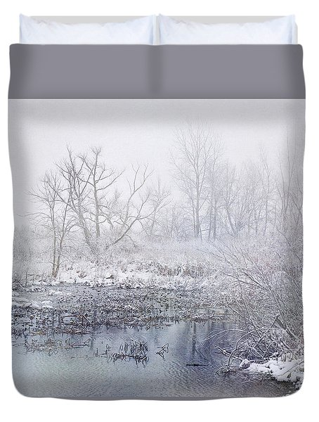 Snowmist Marsh Duvet Cover by Kathi Mirto