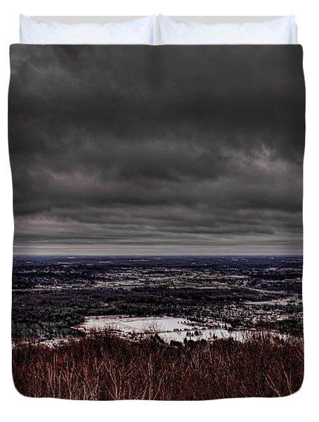 Snowstorm Clouds Over Rib Mountain State Park Duvet Cover