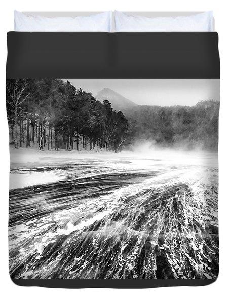 Snowstorm Duvet Cover by Hayato Matsumoto