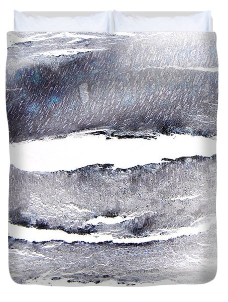 Duvet Cover featuring the photograph Snowstorm In The High Country by Lenore Senior