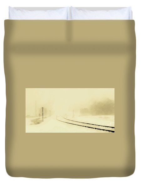 Snowstorm In The Yard S Duvet Cover