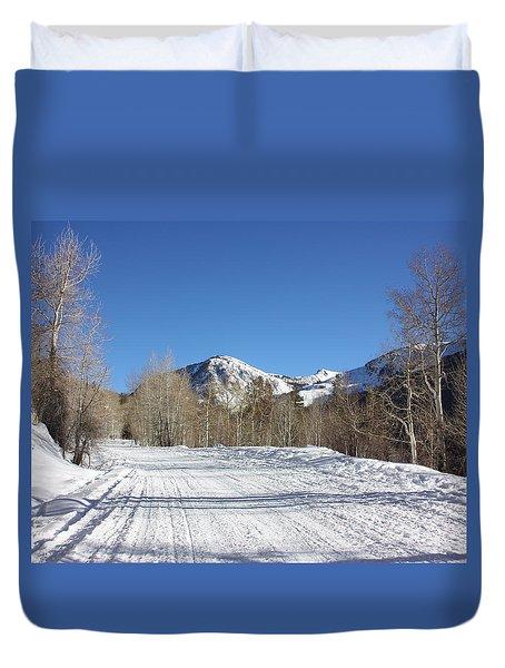 Snowy Aspen Duvet Cover