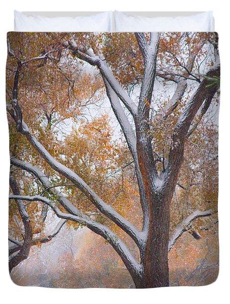Snowy Autumn Landscape Duvet Cover by James BO  Insogna