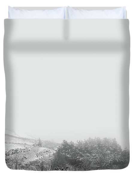 Snowy Background Duvet Cover