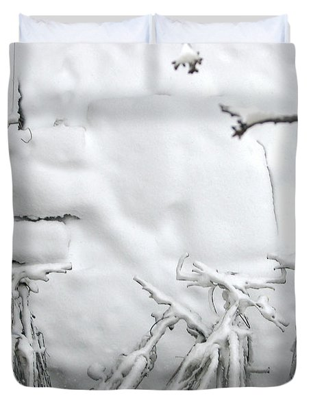 Snowy Bicycle Duvet Cover