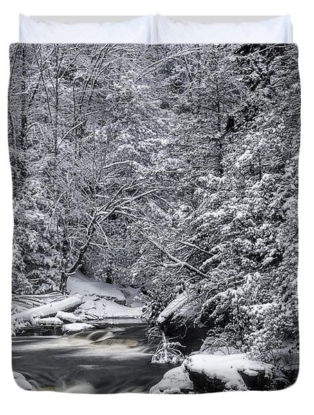 Snowy Blackwater Duvet Cover