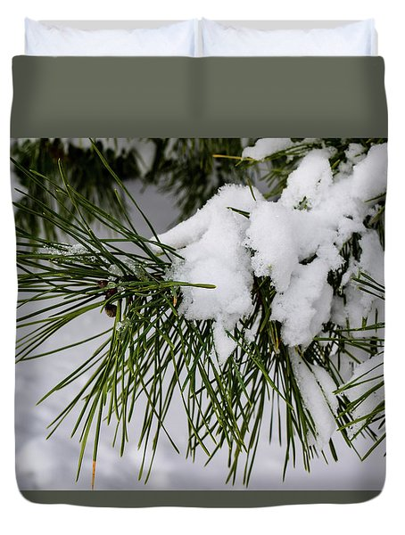 Snowy Branch Duvet Cover