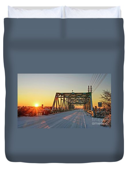 Snowy Bridge Duvet Cover