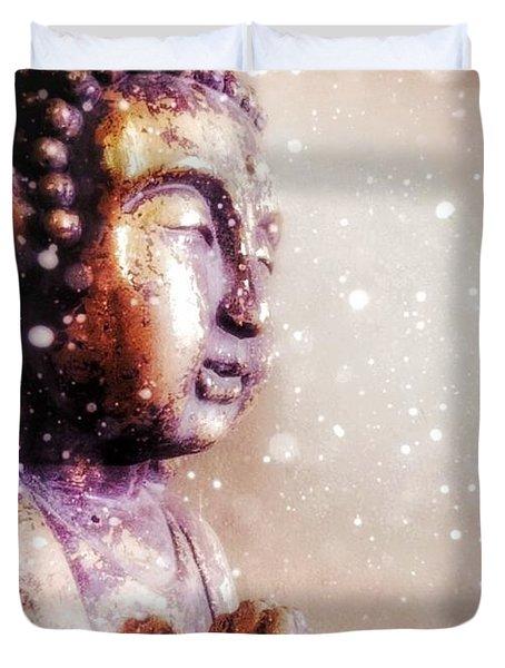 Snowy Buddha Duvet Cover