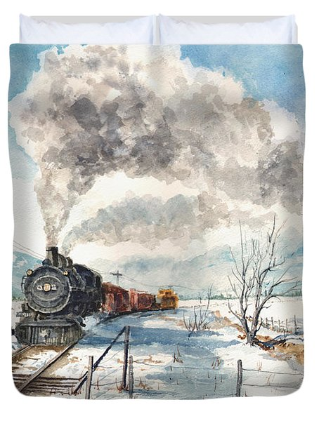 Snowy Crossing Duvet Cover