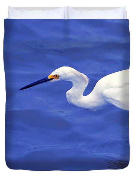 Snowy Egret 1 Duvet Cover by Bill Holkham