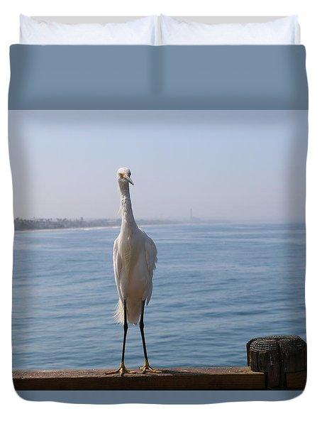 Snowy Egret - 3 Duvet Cover