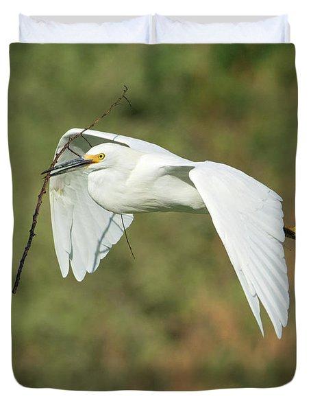Snowy Egret 4786-091017-1cr Duvet Cover