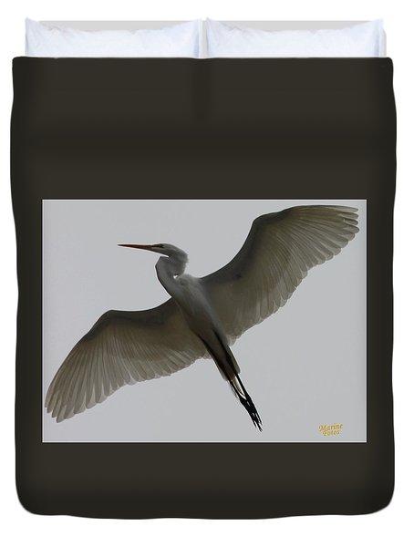 Snowy Egret Wings Of An Angel Duvet Cover