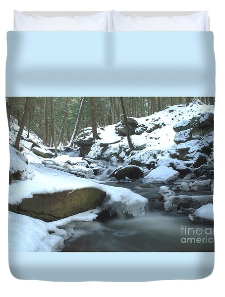 Snowy Falls Duvet Cover