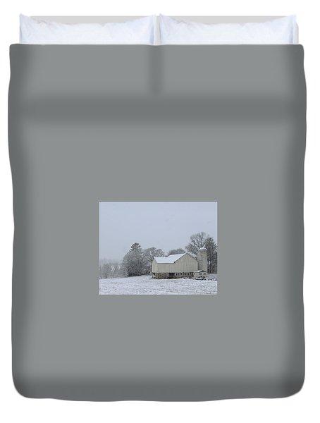 Winter White Farm Duvet Cover