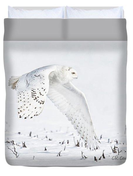 Snowy Flight Duvet Cover