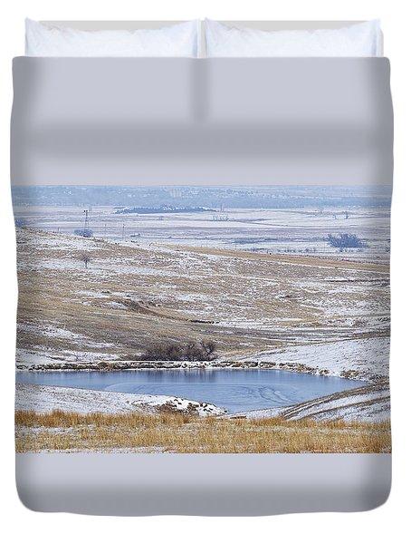 Snowy Hills 1 Duvet Cover