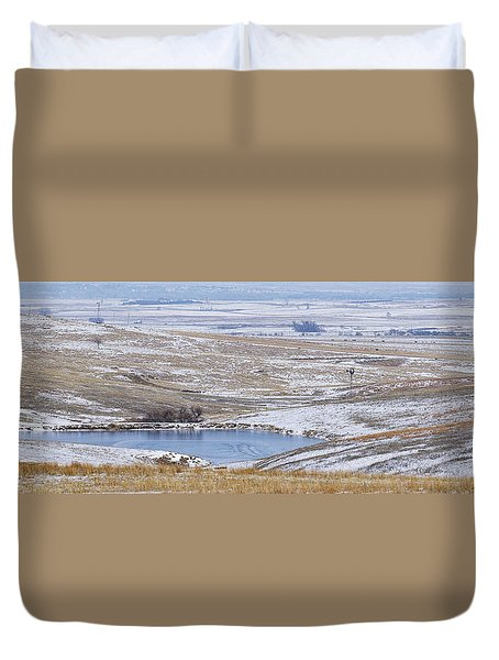 Duvet Cover featuring the photograph Snowy Hills 2 by Rob Graham
