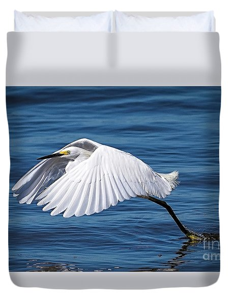 Snowy Liftoff Duvet Cover