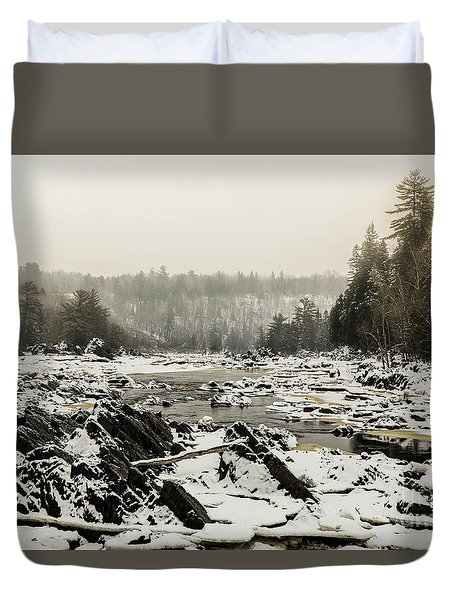 Snowy Morning At Jay Cooke Duvet Cover